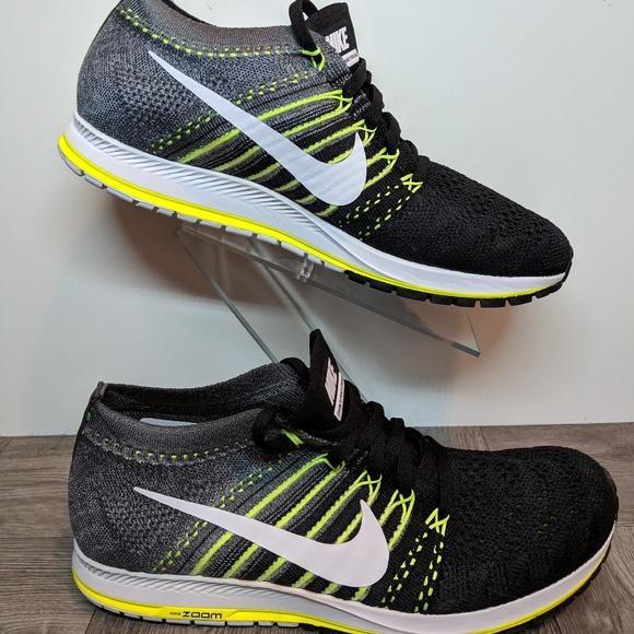 Details about Men`s Nike Zoom Flyknit Streak Running Trainers Shoes 835994 010 Black UK 11